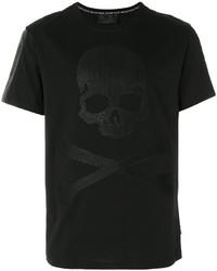 Skull and crossbones waffle print t shirt medium 3993823