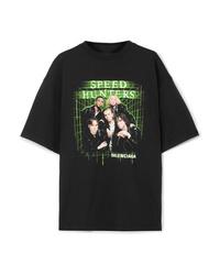 Balenciaga Speed S Printed Cotton Jersey T Shirt