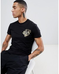 Versace Jeans T Shirt With In Black