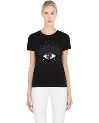Kenzo Eye Printed Cotton Jersey T Shirt