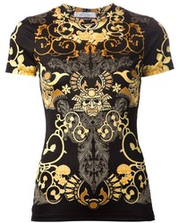 Versace Collection Samurai Print T Shirt