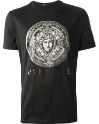 Versace Rose Window Medusa Printed T Shirt