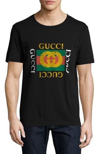 0bfff20e2 Gucci Washed T Shirt Wgg Print Black, $450 | Neiman Marcus ...