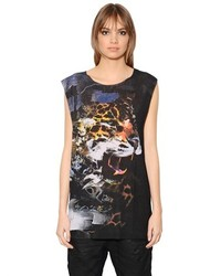 Diesel Wes C Sleeveless Panther Printed T Shirt