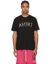 Amiri White Leopard Logo T Shirt