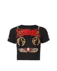 Dilara Findikoglu Cropped Print T Shirt