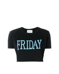 Alberta Ferretti Friday Print Cropped T Shirt