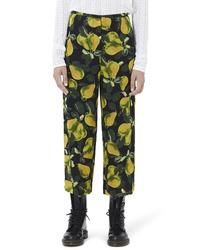 Marc Jacobs Pear Print Wide Leg Pants