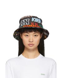 Kirin Black Denim Typo Bucket Hat