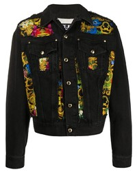 VERSACE JEANS COUTURE Tropical Baroque Denim Jacket