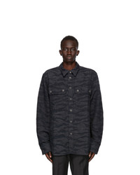 Diesel Black And Grey Denim D Jessy Sp Shirt