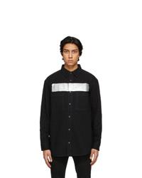 Givenchy Black Denim Logo Shirt