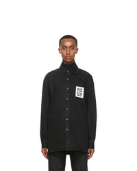 Raf Simons Black Denim Slim Fit Shirt