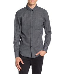 Naked & Famous Denim Black Kasuri Regular Fit Print Sport Shirt
