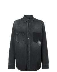 Saint Laurent Printed Denim Shirt