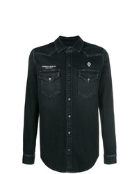 Marcelo Burlon County of Milan Wings Print Denim Shirt