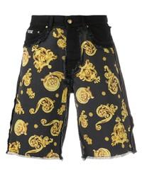 VERSACE JEANS COUTURE Barocco Print Denim Shorts