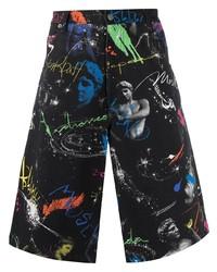 Moschino Space Print Denim Shorts