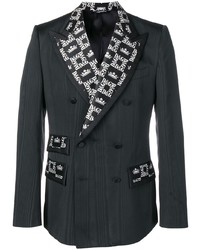 Dolce & Gabbana Monogram Contrast Double Breasted Jacket