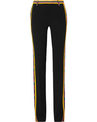 Etro Printed Crepe Straight Leg Pants