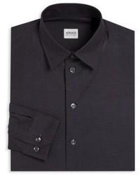 Armani Collezioni Regular Fit Diamond Print Dress Shirt