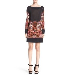 Versace Baroque Print Jersey Dress