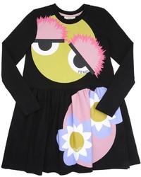 Fendi Monster Printed Cotton Dress
