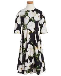 Dolce & Gabbana Girls Dolcegabbana Floral Print Dress