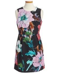 Milly Minis Girls Floral Print Sheath Dress