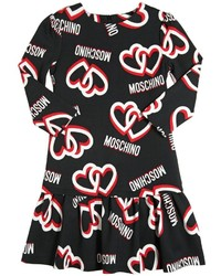 Moschino Heart Logo Printed Milano Jersey Dress