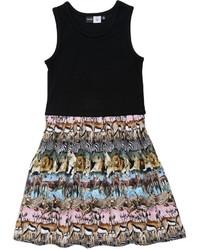 Molo Colleen Safari Print Cotton Jersey Dress