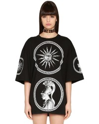 Fausto Puglisi Oversized Printed Cotton Jersey Dress