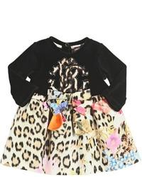 Roberto Cavalli Printed Cotton Jersey Chenille Dress