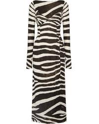 Marc Jacobs Zebra Print Stretch Jersey Dress Black