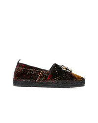 Etro Embellished Plaid Loafers