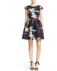 Ted Baker London Zaldana Print Fit Flare Dress