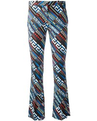 Versace Greca Key Print Flared Trousers