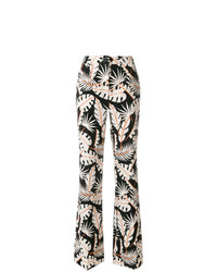 Talbot Runhof Jungle Print Flared Trousers