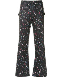 Olympiah Printed Flared Trousers