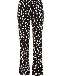 Altuzarra Ross Polka Dot Stretch Cady Flared Trousers