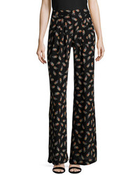 Carolina Herrera Silk Printed Flared Pant