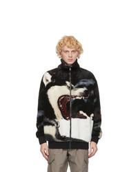 MSGM Multicolor Sherpa Wolf Jacket
