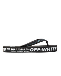 Off-White Black And White Weight Securing System Flip Flops