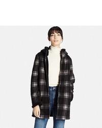 Uniqlo Printed Fluffy Long Sleeve Fleece Coat