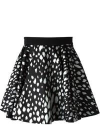 Black Print Full Skirt