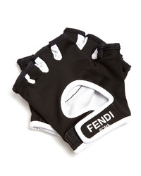 Fendi Logo Print Fingerless Active Gloves