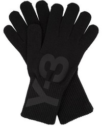 Y-3 Logo Printed Knitted Gloves