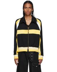 Wales Bonner Black Yellow Wool Isaacs Jacket