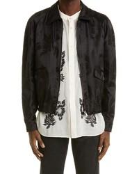 Saint Laurent Teddy Palm Satin Jacket