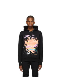 Balmain Black Graphic Hoodie